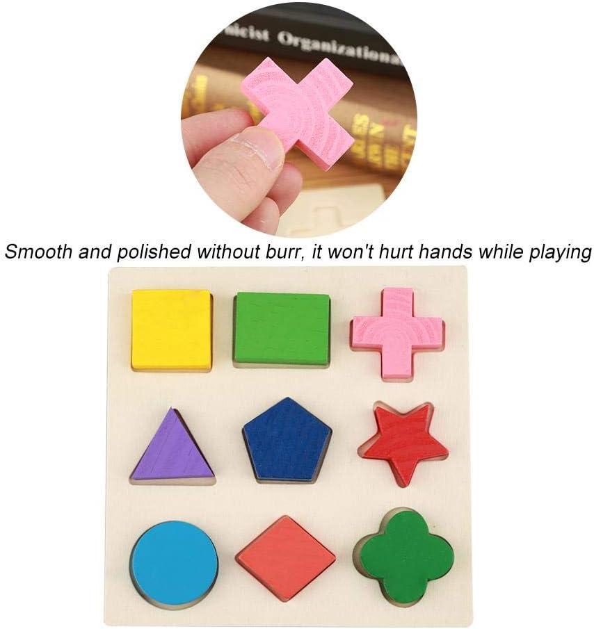 Zerodis Puzzle G/éom/étrique de Construction Blocs Dempilage Montessori Jouet en Bois Educatif Jeux de Paires et De M/émoire Cadeau danniversaire pour Filles Gar/çons 3 Ans #1