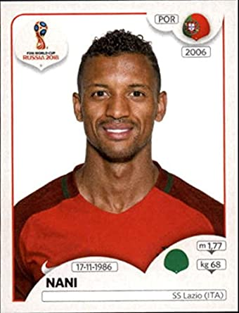 ec632966e67 2018 Panini World Cup Stickers Russia #131 Nani Portugal Futbol Soccer  Sticker