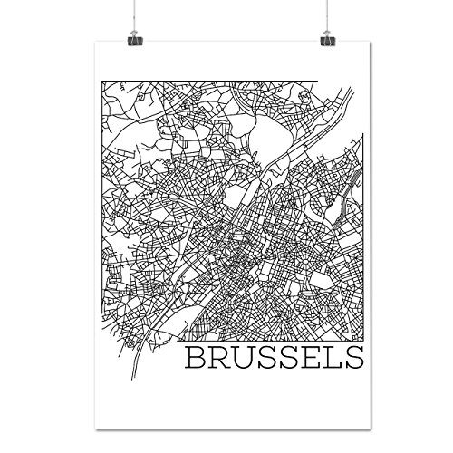 belgium-brussels-map-big-town-matte-glossy-poster-a4-9x12-inches-wellcoda