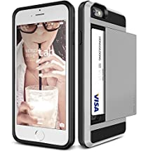 iPhone 6S Case, Verus [Damda Slide][Satin Silver] - [Heavy Duty Protection][Wallet Card Slot] For Apple iPhone 6S 4.7