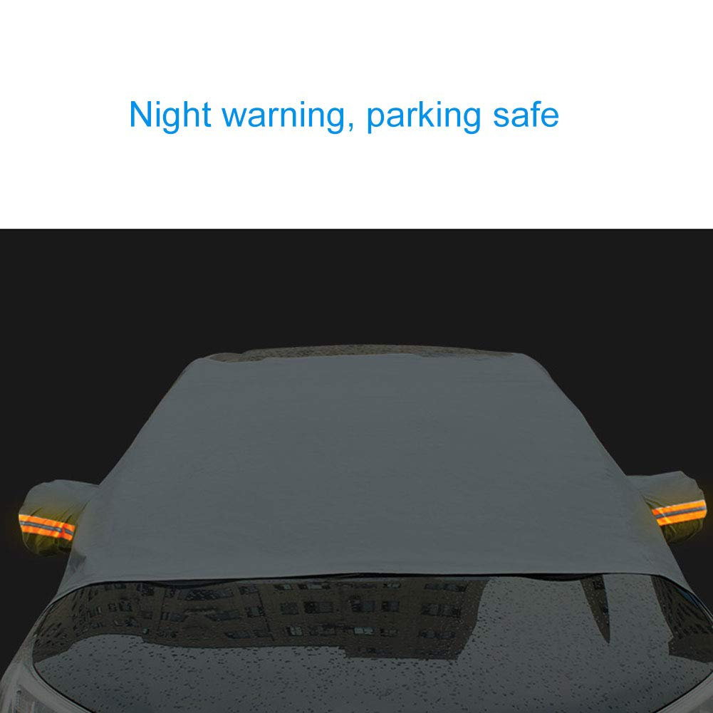 Gray Car Window Curtain Sunshade Cover UV Protection,Car Vehicle Front Windshield Snow Cover Frost Sun UV Shade Shield Protector