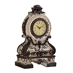 Benzara Antique Styled Fancy Ceramic Table Clock