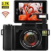 Digital Camera with WiFi 24.0 MP Vlogging Camera 2.7K...