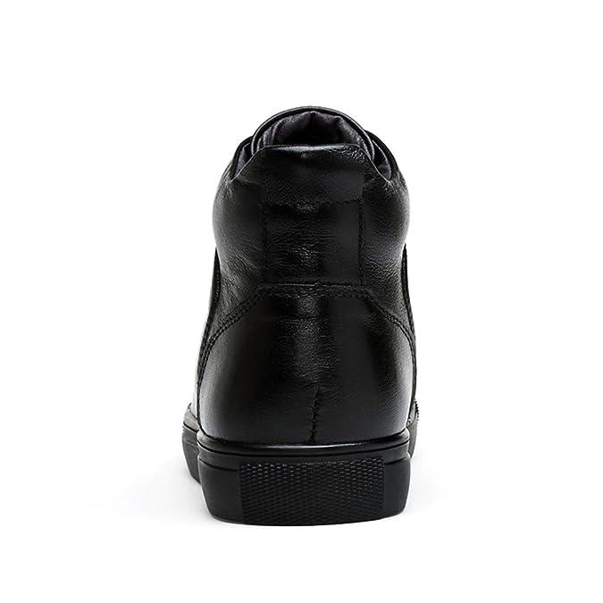 Ben Sports Noir Bottes et boots homme Bottes Chaud Classiques homme Bottines à Lacets Desert Boots Homme,Doublure en fourrure,EU 39-48