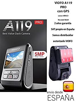 VIOFO A119 Pro CON GPS Dash Cam Condensador AR0521 Sensor 7G ...