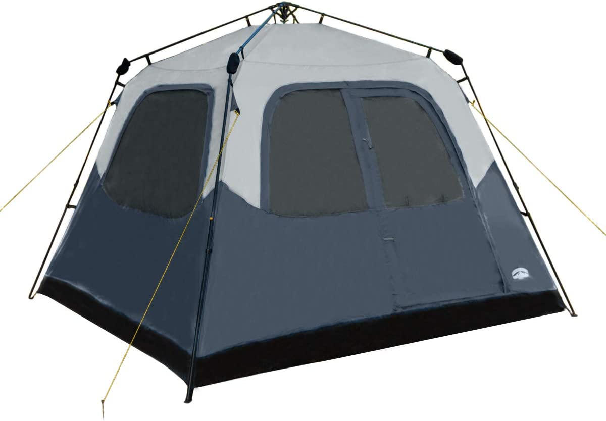 Pacific Pass Camping Tent 6 Person Instant Cabin Family Tent