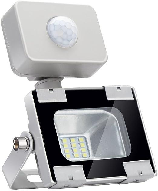 10w Foco led exterior con Sensor Movimiento,Led Proyector para ...