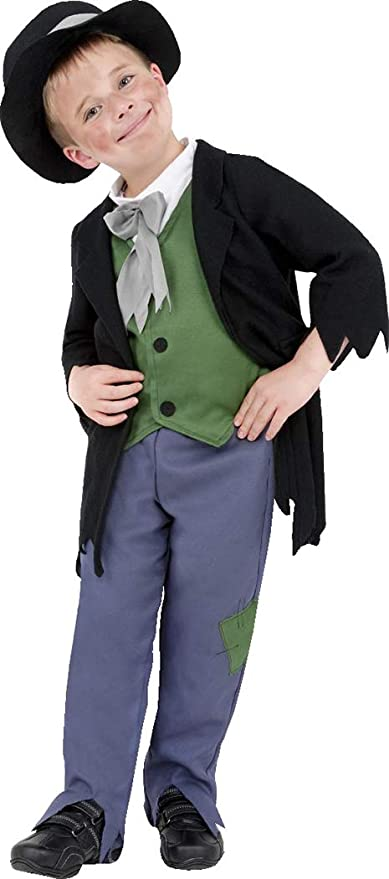 Victorian Kids Costumes & Shoes- Girls, Boys, Baby, Toddler Smiffys Kids Fancy Dress Party Dodgy Victorian Boy Costume Large Age 10-12 Black $60.49 AT vintagedancer.com