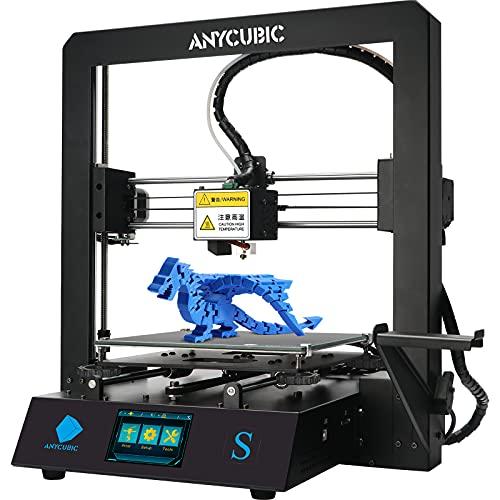ANYCUBIC Mega-S Nueva impresora 3D de actualización con extrusora y estante de filamento suspendido + Filamento PLA de prueba gratis, funciona con TPU / PLA / ABS