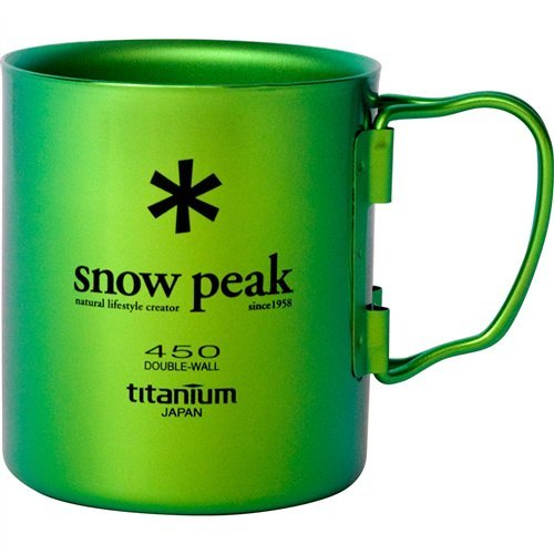 Snow Peak Titanium Double Wall 450 Mug Cookware 000 Green