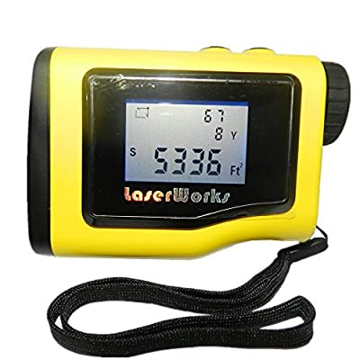 LaserWorks Rangefinder 1000 Yards +- 0.5Y With LCD Height Measurement Angle Distance Measuring Device Digital Level Measuring Instrument Area Circle Rectangular from DaZhen