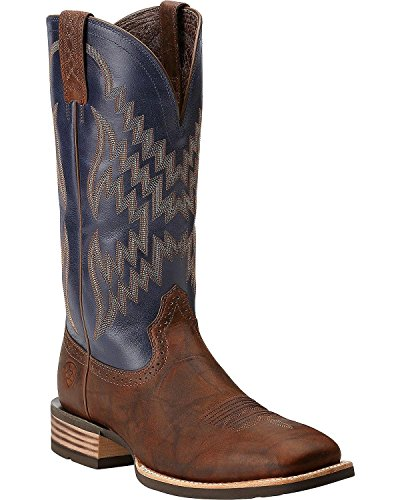 ARIAT Men's Tycoon Cowboy Boot Square Toe Brown 10.5 EE US (Ariat Fancy Boots)