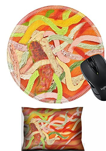 MSD Mouse Wrist Rest and Round Mousepad Set, 2pc Wrist Support design 20777944 Abstract Painted Wall - Painted Abstract Wall