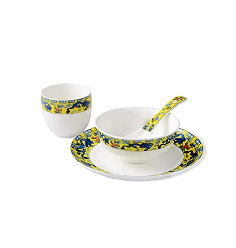 Lkk Juego de vajilla de cerámica Comida para una Persona ...