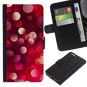 """[Neutron-Star] Modelo colorido cuero de la carpeta del tirón del caso cubierta piel Holster Funda protecció Para Apple (5.5 inches!!!) iPhone 6+ Plus / 6S+ Plus [Bling del brillo de los puntos de luz roja púrpura rosada""""]"""