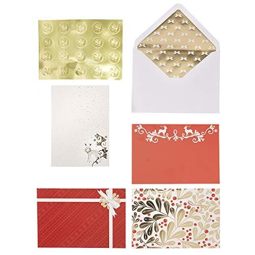 Martha Stewart 30068354 Paper Greenery Card Kit, Multicolor - Greetings Embossed Seals