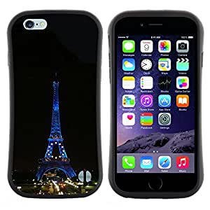 "Hypernova Slim Fit Dual Barniz Protector Caso Case Funda Para Apple (5.5 inches!!!) iPhone 6 Plus / 6S Plus ( 5.5 ) [Arquitectura Torre Eiffel Tour de Noche""]"