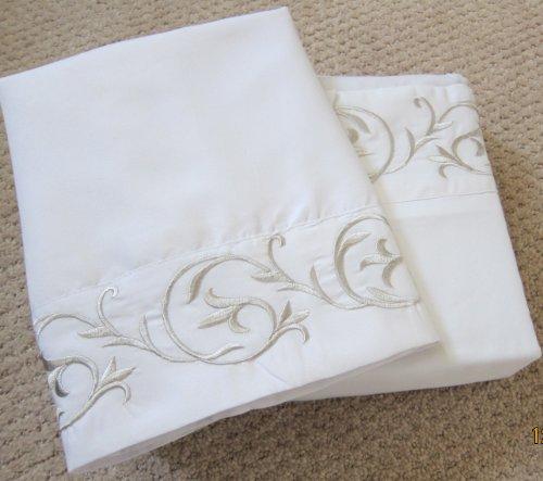- Regency Luxury Microfiber Embroidered QUEEN Sheet Set