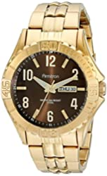 Armitron Men's 20/5070BNGP Day/Date Function Dial Gold-Tone Bracelet Watch