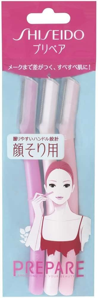 Shiseido 3 piezas Preparar Razor facial, grande (Japón Importación)