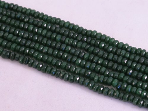 Dark Green Jade (BRCbeads Mountain Jade (Dyed) Dark Green Color 2x4mm Rondelle 160pcs 15.5'' Per)