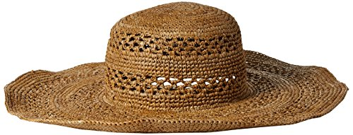 Ale by Alessandra Women's Camille Intricate Weave Toyo Floppy Sunhat