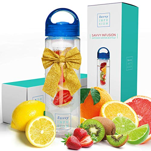 Savvy Infusion Water Bottles - 24 or 32 Ounce Fruit Infuser...