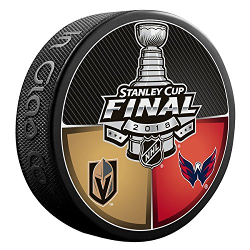 Sherwood 2018 NHL Stanley Cup Final Dueling Puck Vegas Golden Knights vs. Washington (Stanley Cup Patch)