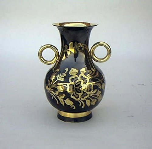 OKSLO India Overseas Trading BR21452 - Solid Brass Vase, Etched ()