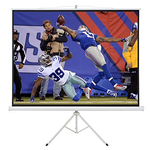 ARKSEN 100'' Portable Tripod Stand Projector Presentations with Handle (80x60) Projection Screen 4:3 Ratio, White by ARKSEN