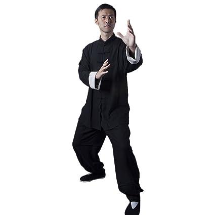 26c9730e5 BlueSkyDeer Unisex's Cotton Linen Bruce Lee Kung Fu Clothing Meditation  Clothing Tai Chi Clothes Black S