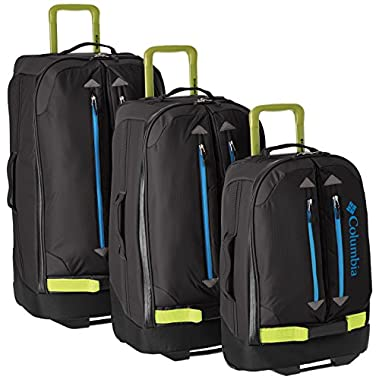 Columbia Pack and Go 3 Piece Set, Black/Chartreuse, One Size