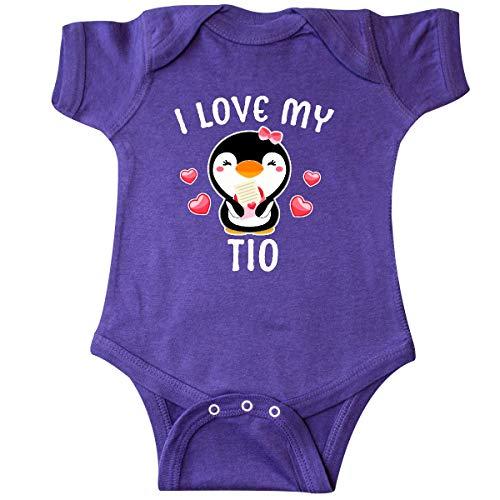 inktastic - I Love My TIO with Cute Penguin Infant Creeper Newborn Purple 3431c