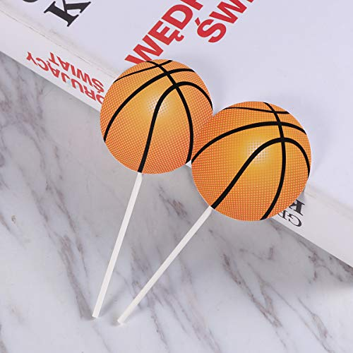 Amosfun 50 Unids Basketball Cake Toppers Cupcake Toppers ...