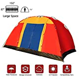 Lucky Tree Outdoor 8 Persons Easy SetUp Family Large Tent for Traveling Camping Hiking with Portable Bag Blue … Review