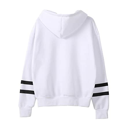 Amazon.com : Clearance!Youngh New Womens Blouses Shirts Women Hoodie Sweatshirt Tops Solid Sweatshirt Long Sleeve Jumper Hooded Sweatshirt Cotton Blend ...