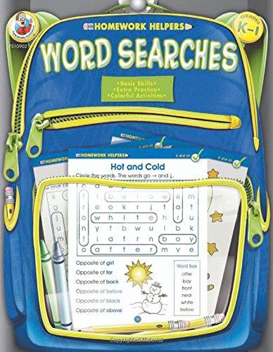 Word Searches, Grades K - 1 (Homework Helper)