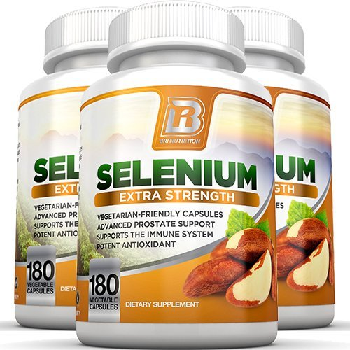 BRI Nutrition Selenium 3-Pack, 180ct 200mcg Vegetable Formula - Essential Trace Mineral to Support Thyroid, Prostate and Heart Health* - Yeast Free - Made in the USA by BRI Nutrition