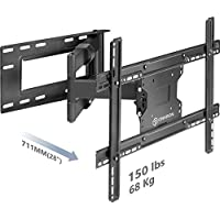 "ONKRON TV Wall Mount Bracket Full Motion Articulating Arm for 40"" – 60 Inch LED LCD Plasma Flat Screen TV with Tilt Swivel 150 LBS Loading Capacity M7L"