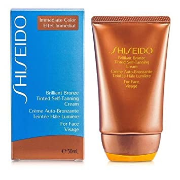 Amazon.com   Shiseido Self-Tanners 1.8 Oz Brilliant Bronze Tinted Self- Tanning Cream - Medium Tan (For Face) For Women   Bath And Shower Products    Beauty a9fd1d32f3