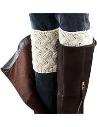 2015 Women Knitted Hollow Out Twill Leg Warmers Socks