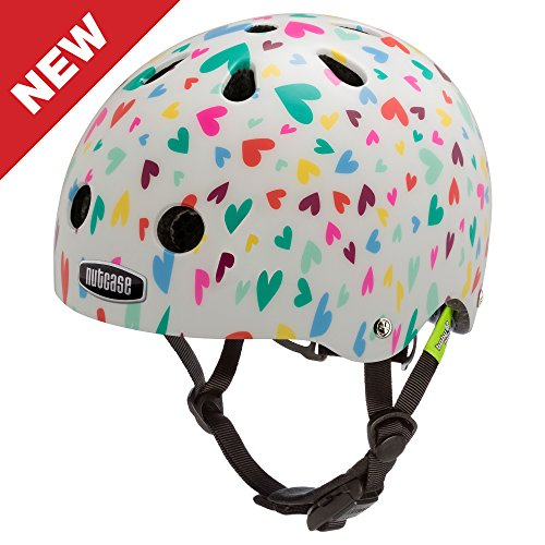 Why Choose Nutcase - Baby Nutty Bike Helmet for Babies and Toddlers, Happy Hearts