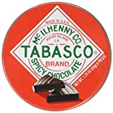 Tabasco - Spicy Dark Chocolate Wedges - Round Tin - 50g