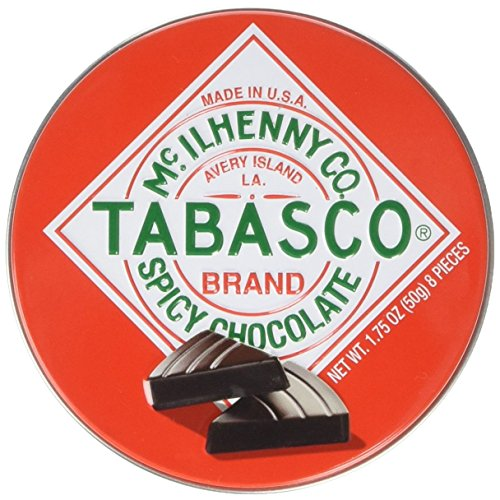 Tabasco Tin Spicy Dark Chocolate Wedges 50g