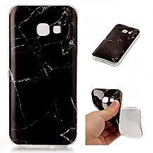 Galaxy A5 2017 case Marble,YiLin Marble Series Anti-Scratch &Fingerprint Shock Proof Thin TPU Case for Samsung Galaxy A5 2017 ,Black