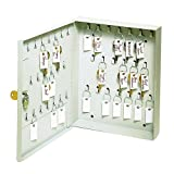 STEELMASTER 40-Key Capacity Locking Cabinet, 8-1/2'' x 10-1/8'' x 1-7/8'', Platinum (201KCH40PL)