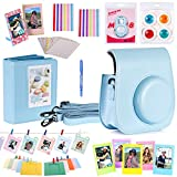Neewer 10 in 1 Accessories Kit For Fujifilm Instax Mini 8/8s Include Camera Case/Album/Selfie Lens/4*Colored Filters/5*Film Table Frames/20*Wall Hanging Frame/40*Border Stickers/2*Corner Stickers/Pen