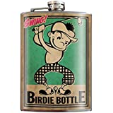 Birdie Bottle Golf Father's Day Flask - 8oz Stainless Steel Flask - come in a GIFT BOX - by Trixie & Milo