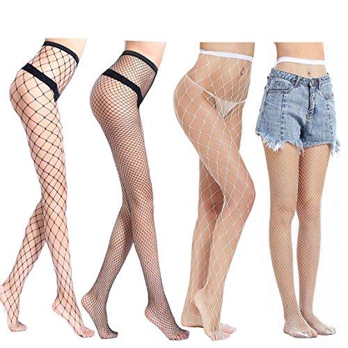 Ypser Fishnet Tights Mesh Stockings Sparkle Rhinestone Glittering Net Pantyhose