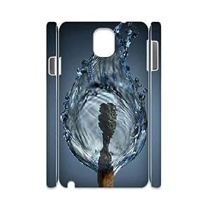 3D Samsung Galaxy Note 3 Case,Match Water Fire Hard Shell Back Case for White Samsung Galaxy Note 3